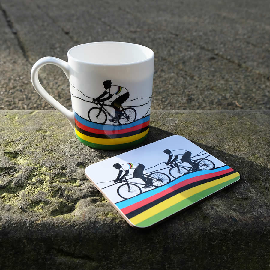 The Rainbow Jersey - Mug & Coaster - The Art Rooms