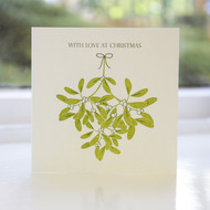Mistletoe Letterpress Christmas Card