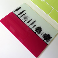 Landscape Glass Worktop Saver - Pink - SPECIAL OFFER