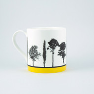 Jacky Al-Samarraie Yellow Landscape Tree Bone China Mug