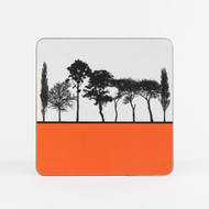 Orange British landscape table mat by designer Jacky Al-Samarraie