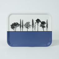 Blue British landscape birch wood and melamine tray by designer Jacky Al-Samarraie