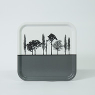 Grey British landscape birch wood and melamine tray by designer Jacky Al-Samarraie