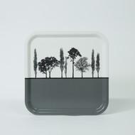 Grey British landscape birch wood and melamine tray by designer Jacky Al-Samarraie