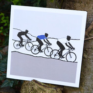 White Jersey Cycling Greeting Card