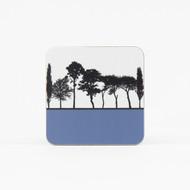 Blue British landscape coaster by designer Jacky Al-Samarraie