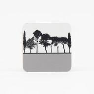 Grey British landscape coaster by designer Jacky Al-Samarraie