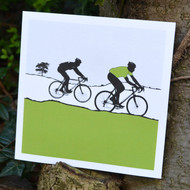 Green Jersey Cycling Greeting Card