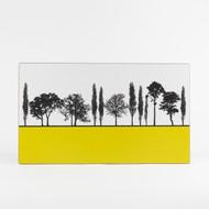 Mustard British landscape melamine chopping board by designer Jacky Al-Samarraie