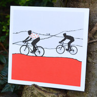 Jacky Al-Samarraie Red Polka Dot Jersey Cycling Greeting Card