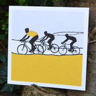 Yellow Jersey Cycling Greeting Card