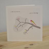 Little Bird Leaving Card