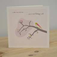Little Bird Get Well Card