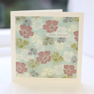 Jacky Al-Samarraie Blue Floral Birthday Card