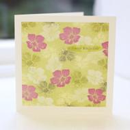 Lime Floral Birthday Card
