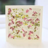 Hawthorn Flower Birthday Card