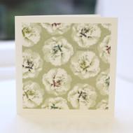 Gold Camellia Thank You Card