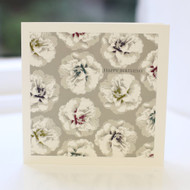 Grey Camellia Birthday Card