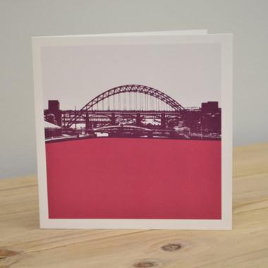 Jacky al samarraie tyne bridge newcastle raspberry greeting card newcastle raspberry greeting card image 1 m4hsunfo