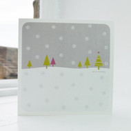 Snowfall - Grey Christmas Card