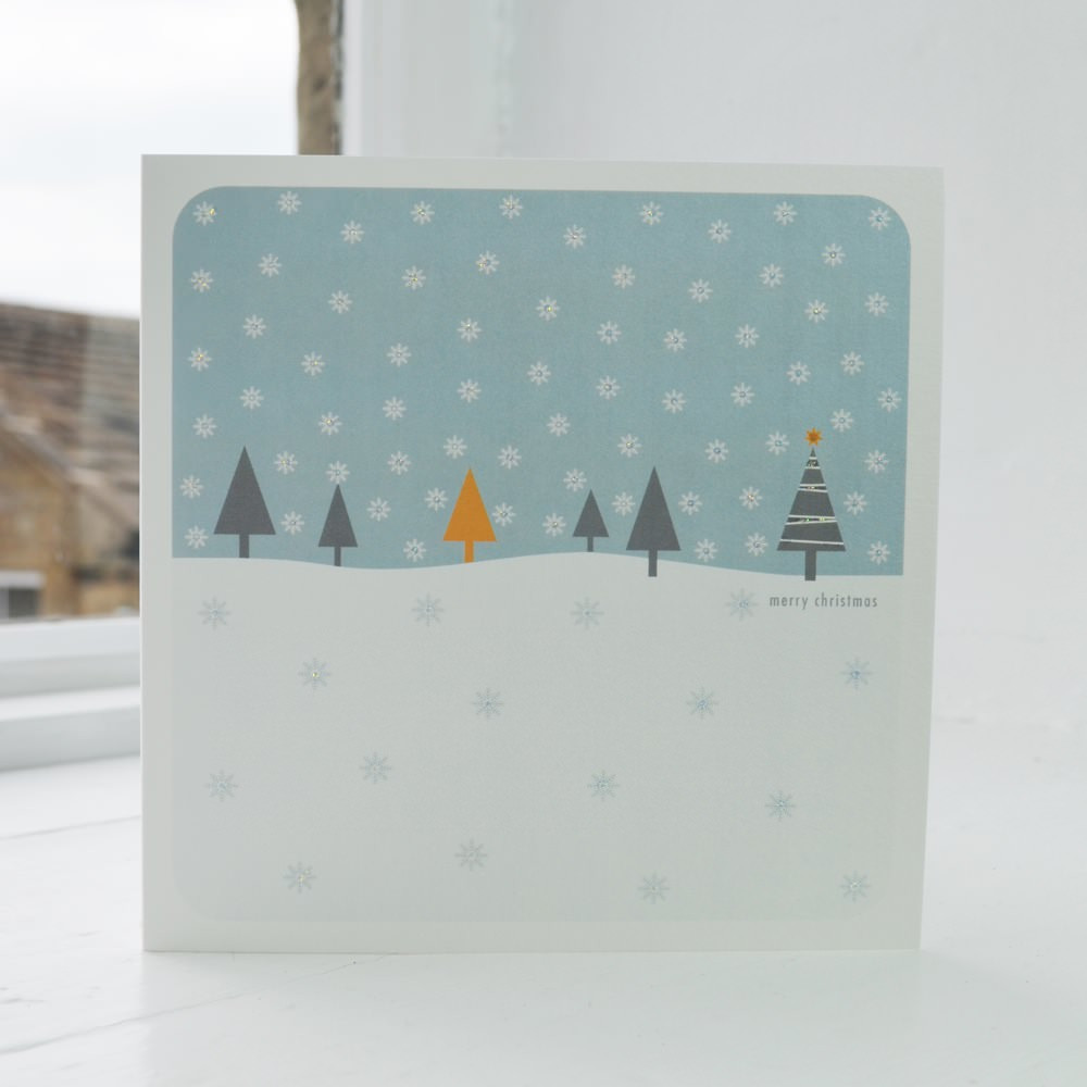 a2a7ad788cf Jacky Al-Samarraie Snowfall - Blue Christmas Card - The Art Rooms