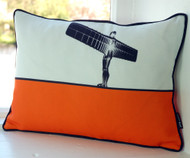 Jacky Al-Samarraie Angel of the North Cushion - Orange