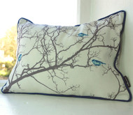 Birdsong Cushion - Blue