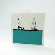Sailing greeting card by Jacky Al-Samarraie
