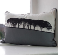 Jacky Al-Samarraie Guiseley Landscape Cushion - Grey