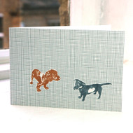 Jacky Al-Samarraie Two Alfies - Dog - Greeting Card