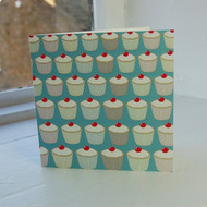 Jacky Al-Samarraie Turquoise Cupcakes Greeting Card