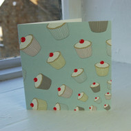 Blue Cupcakes Greeting Card