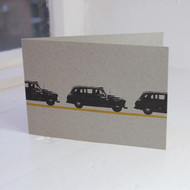 London Taxi Letterpress Greeting Card