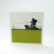 Fishing greeting card by Jacky Al-Samarraie