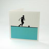 Footballer greeting card by Jacky Al-Samarraie