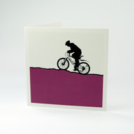 Mountain Bike greeting card by Jacky Al-Samarraie