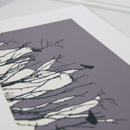 Grey/Lilac Watching Screen Print