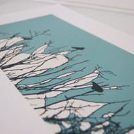 Turquoise Watching Screen Print