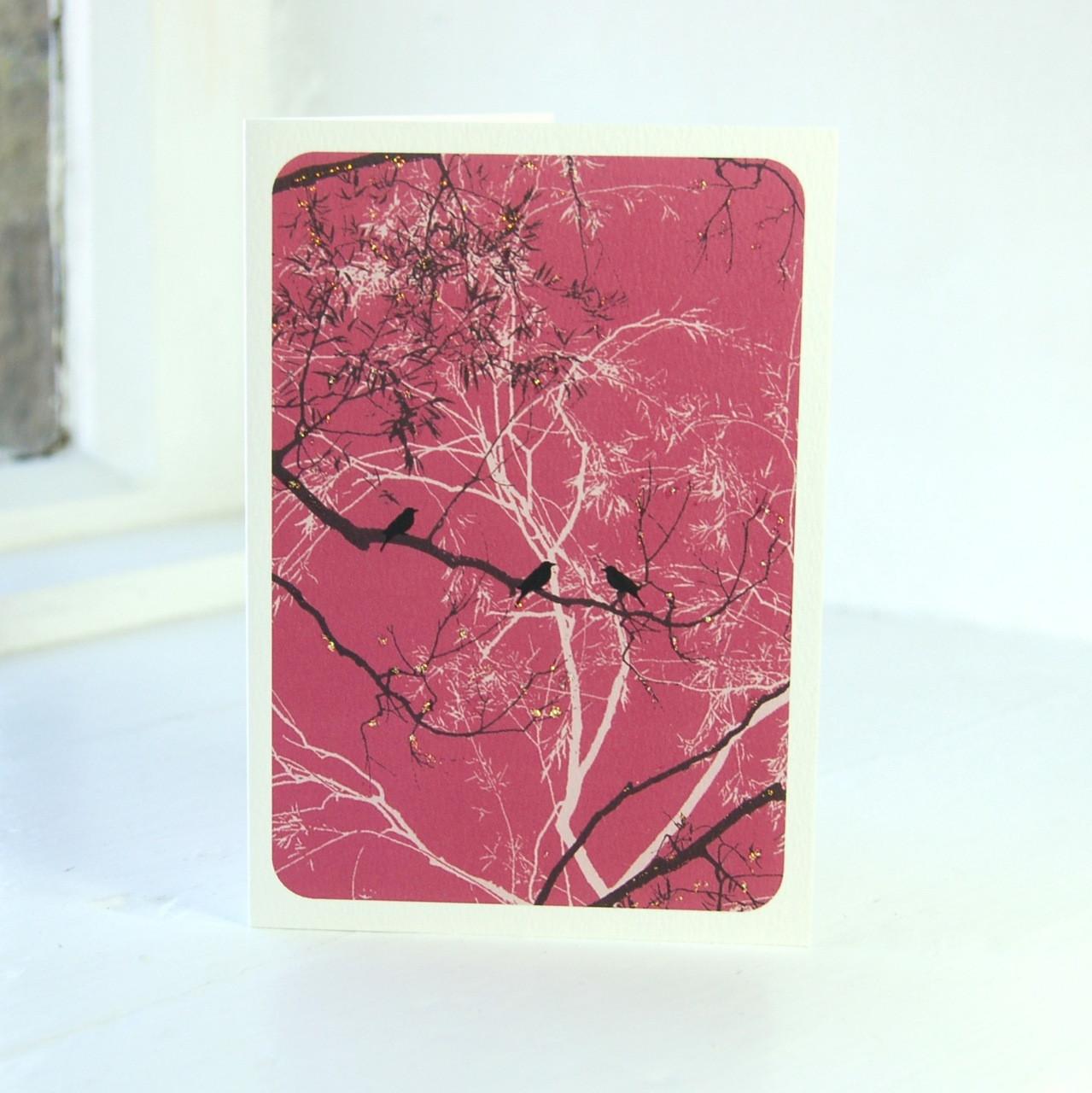 Oriental Raspberry Greeting Card The Art Rooms