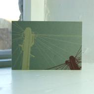 Telegraph Pole Greeting Card