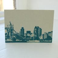 Tower Bridge & Gherkin Postcard