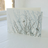 Jacky Al-Samarraie Birdsong Blue & Grey Letterpress Greeting Card