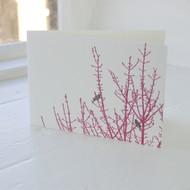 Birdsong Letterpress Greeting Card