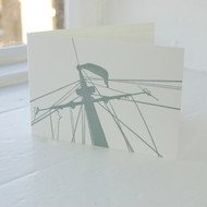 Jacky Al-Samarraie Royal Yacht Mast Letterpress Greeting Card