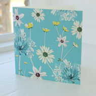 Daisy & Agapanthus Greeting Card