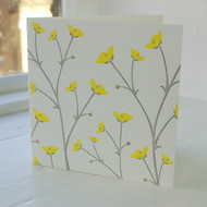 Jacky Al-Samarraie Buttercup Letterpress Greeting Card