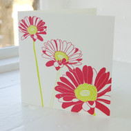 Gerbera Letterpress Greeting Card