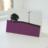 Jacky Al-Samarraie Troutbeck Purple Greeting Card