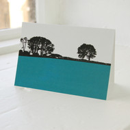Jacky Al-Samarraie Dumfries & Galloway - Gatehouse of Fleet Teal Greeting Card