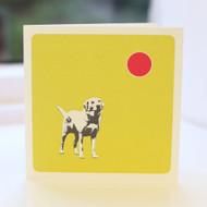 Jacky Al-Samarraie Golden Labrador Greeting Card